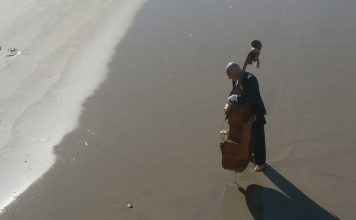 Beach With Cello by Aliza Abusch-Magder