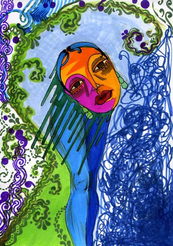 Melting Head 34 by Eliana Shapere